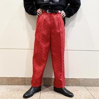 90s〜checked wide slacks pants