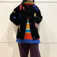 80s~ design velours cardigan