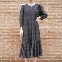 80's peplum flare dress