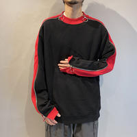 bi-color zip design cut sew