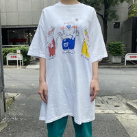 80s〜 cats printed T-shirt