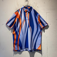 oversized psychedelic polo shirt