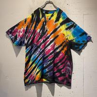 tie-dye design T-shirt(BLK)