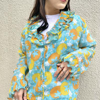 70s frill design all-patterned shirt