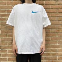 90s~ swoosh design printed T-shirt