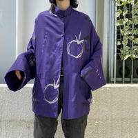 80s~ oversized design reversible jacket (DEADSTOCK)