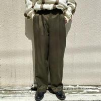 90s shiny wide slacks pants