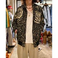 90s tiger patterned zip up jacket