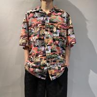 80s〜s/s animal printed shirt
