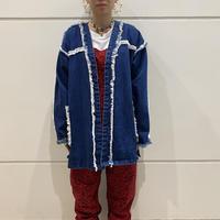 old fringe design denim jacket