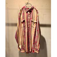 """80s """"Wrangler"""" all pattern L/S shirt"""