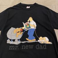 """00s """"mr.new dad"""" printed tee"""