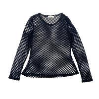 90s〜L/S mesh shirt