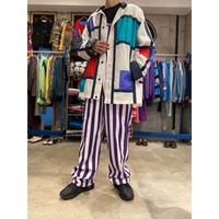 80s〜mondrian paatterned nylon jacket