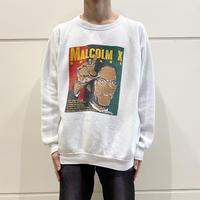 "90s~ ""MALCOLM X"" printed sweat shirt"