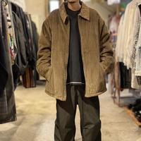 oversized zip up corduroy jacket
