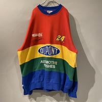 multi color racing sweat shirt