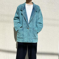 90s chemical denim tailored jacket