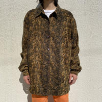 oversized L/S python patterned shirt