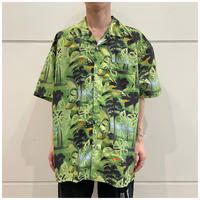90s poly open collar shirt
