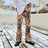 70s all-patterned flare slacks pants