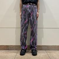 old thunder patterned denim pants