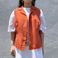 90s checkered no-sleeves shirt