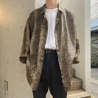 80s~ leopard patterned L/S shirt