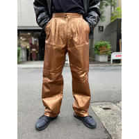 shiny design leather pants