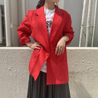 90s rayon blend easy tailored jacket (RED)