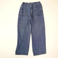 Straight easy denim pants