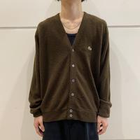 "60s ""IZOD"" acrylic knit cardigan"