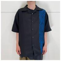 90s poly/rayon open collar shirt
