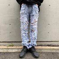 "90s ""Levi's"" crash design denim pants"