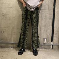 90s zebra patterned flare pants