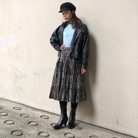 old shiny striped skirt