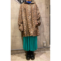 90s leopard pattern reversible coat