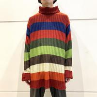 90s~ oversized turtle neck knit sweater