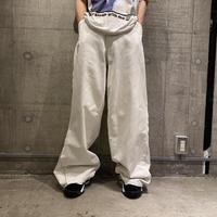 00s side zip design wide pants