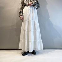 00s〜tiered design white long skirt