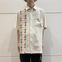 90s design silk shirt