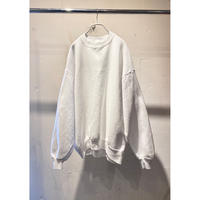 80s〜plain sweat shirt(WHT)