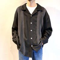 90s open collar L/S shirt