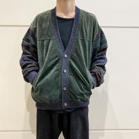 90s~ switching design knit cardigan
