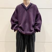 90s oversized v-neck sweat shirt