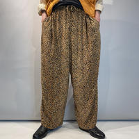 90s leopard patterned easy pants