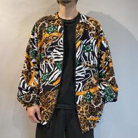 80s zip up rayon jacket