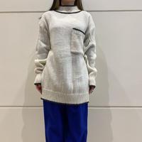 high neck acrylic knit sweater