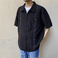 zip up design S/S shirt