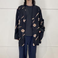 90s flower patterned easy tailored jacket